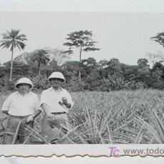 Militaria: ANTIGUA FOTOGRAFIA ORIGINAL DE MILITARES ESPAÑOLES EN GUINEA ECUTORIAL, AÑOS 40 - MIDE 9 X 6,3 CMS.. Lote 4168647