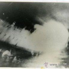 Militaria: FOTOGRAFIA TOMADA DESDE UN DESTRUCTOR INGLES DE LAS ULTIMAS HORAS DEL CRUCERO BALEARES. . Lote 27564736