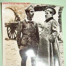Militaria: FOTO DEL JEFE DEL ESTADO CON EL GENERAL SANJURJO. Lote 13814191