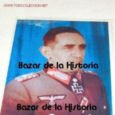 Militaria: DIVISION AZUL - FOTO A COLOR DE AGUSTIN MUÑOZ GRANDES. Lote 30346891