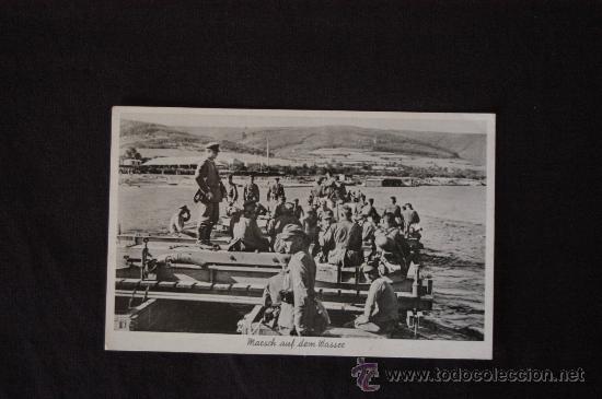 POSTAL CIRCULADA DE UN DESCANSO DE SOLDADOS ALEMANES. TERCER REICH. EPOCA (Militar - Fotografía Militar - II Guerra Mundial)