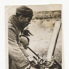 Militaria: FOTOGRAFIA ORIGINAL DE LA GUERRA CIVIL. SOLDADO REPUBLICANO CON MORTERO.. Lote 25707065