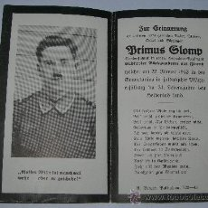 Militaria: TARJETA CONMEMORATIVA MUERTE SOLDADO ALEMAN(028). Lote 26670967