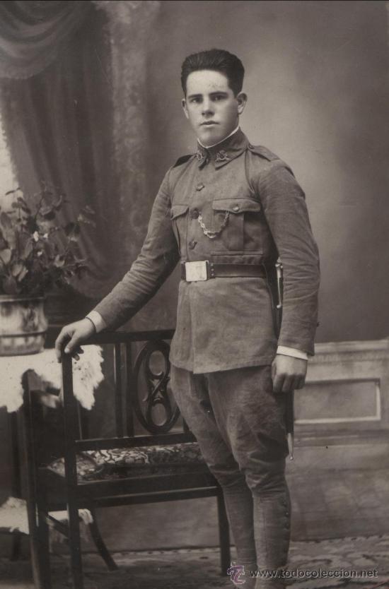 Militaria: Soldado de Infantería Nº 47. Época de Alfonso XIII. En marco artesanal. - Foto 4 - 12175820