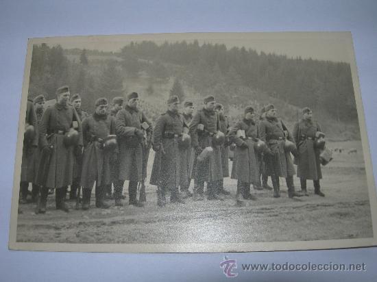 POSTKARTE FORMACION WERMACHT(011) (Militar - Fotografía Militar - II Guerra Mundial)