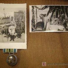 Militaria: LEGION ITALIANA. CONJUNTO DE 5 FOTOGRAFIAS Y MEDALLA. Lote 27564741