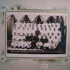 Militaria: MILITAR. REGIMIENTO INFANTERIA ASIA Nº55. GERONA 1915. FOTOGRAFIA ORIGINAL. Lote 12787210
