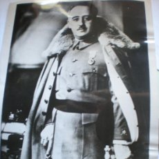 Militaria: FOTOGRAFIA ORIGINAL GUERRA CIVIL ESPAÑOLA - GENERALISIMO FRANCO FOTO DE ESTUDIO AÑO 1939. Lote 37441565