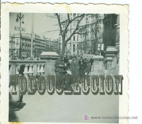 SOLDADO LEGION CONDOR GUERRA CIVIL, ANTIGUA FOTO ORIGINAL, 6,2 X 6,2 CM. MADRID (Militar - Fotografía Militar - Guerra Civil Española)