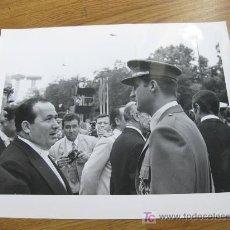 Militaria: FOTOGRAFIA DEL REY JUAN CARLOS EN UN DESFILE DE LOS AÑOS 70 (EPOCA DE FRANCO). Lote 21190217