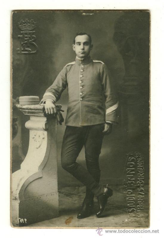 FOTOGRAFIA ORIGINAL DE MILITAR ESPAÑOL - ÉPOCA ALFONSO XIII - CABALLERIA? (Militar - Fotografía Militar - Otros)