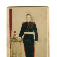 Militaria: FOTOGRAFIA ORIGINAL DE MILITAR ESPAÑOL - ÉPOCA ALFONSO XIII - ARTILLERIA. Lote 27114394