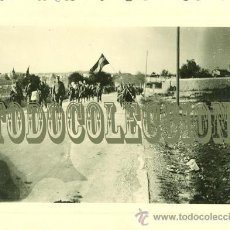 Militaria: ¿PROVINCIA DE TARRAGONA ?. TROPAS NACIONALES. FOTO TOMADA POR LA LEGION CONDOR. 8 X 5,5 CM. Lote 25019592