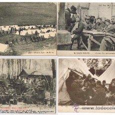 Militaria: SECUENCIAS DE LA GUERRA - POSTALES ORIGINALES DE EPOCA, ENTRE 1914-1918. ACAMPADAS Y ESPERAS. Lote 26098795