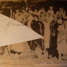 Militaria: FOTOGRAFIA ORIGINAL - GUERRA ESPAÑOLA - SOLDADOS REBELDES HERIDOS EN EL HOSPITAL DE SALAMANCA 1936. Lote 24091246