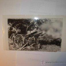 Militaria: FOTOGRAFIA ORIGINAL - GUERRA ESPAÑOLA - CAÑONES OCULTADOS DISPARAN A MADRID , AÑO 1936. Lote 23844106