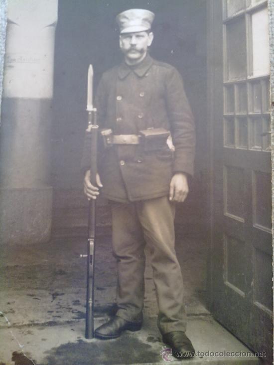 FOTO ORIGINAL ALEMANA I GUERRA MUNDIAL -SOLDADO (Militar - Fotografía Militar - I Guerra Mundial)