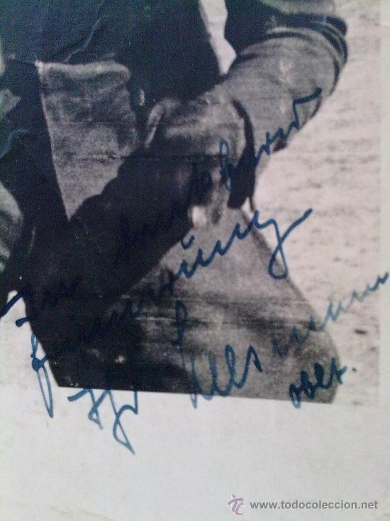 Militaria: FOTO ORIGINAL ALEMANA PILOTO DE LA LUFTWAFFE,FOTO CON DEDICATORIA - Foto 2 - 26272714