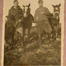Militaria: ANTIGUA FOTOGRAFIA DE PLENA GUERRA CIVIL - CABALLERIA - MIDE 7 X 6 CMS. Lote 17142825