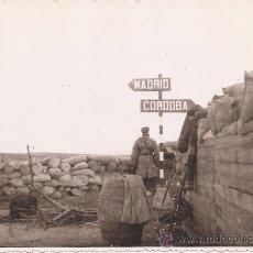 Militaria: FOTOGRAFIA ORIGINAL GUERRA CIVIL- FRENTE MADRID , TRINCHERA AÑO 1938. Lote 24091253
