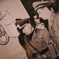 Militaria: FOTO MUSSOLINI Y TROPAS NAZIS. Lote 26636826