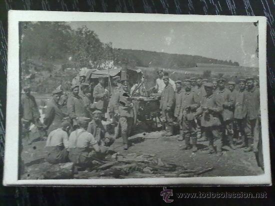Militaria: FOTO ORIGINAL ALEMANA SOLDADOS ALEMANES COMIENDO I GUERRA MUNDIAL - Foto 2 - 27445157