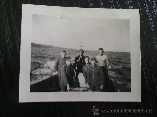 Militaria: RARA FOTO ORIGINAL ALEMANA SUBMARINISTA ALEMAN II GUERRA MUNDIAL - Foto 2 - 27551189