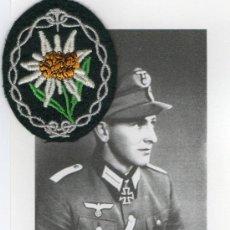 Militaria: FOTOGRAFÍA FIRMADA GERBISJÄGER ALEMÁN - SEGUNDA GUERRA MUNDIAL -TROPAS DE ELITE . Lote 26686801