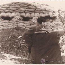 Militaria: FOTOGRAFIA ORIGINAL GUERRA CIVIL - BUNKER EN EL FRENTE DE ARAGÓN - 23 MARZO 1938. Lote 24301733