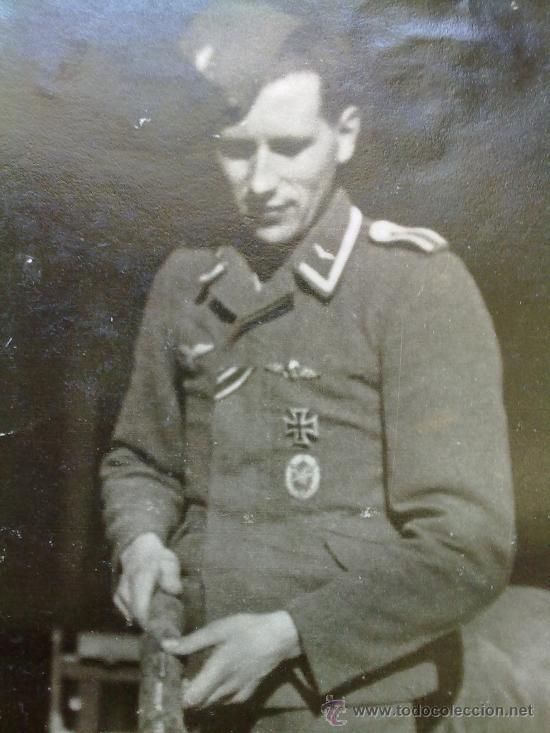 FOTO ORIGINAL ALEMANA PILOTO ALEMAN II GUERRA MUNDIAL (Militar - Fotografía Militar - II Guerra Mundial)