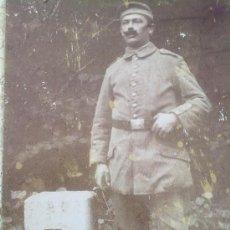 Militaria: FOTO ORIGINAL ALEMANA ,SOLDADO ALEMAN EN FRANCIA ,I GUERRA MUNDIAL. Lote 26482495
