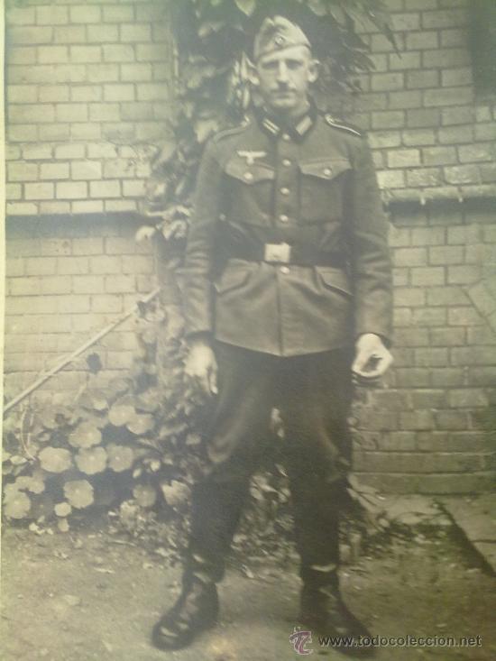 FOTO ORIGINAL ALEMANA,SOLDADO ALEMAN II GUERRA MUNDIAL (Militar - Fotografía Militar - II Guerra Mundial)
