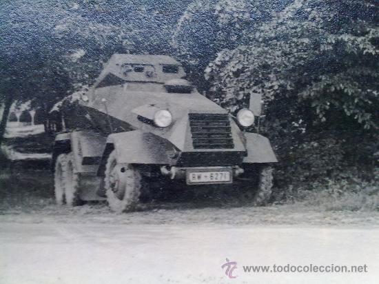 FOTO ORIGINAL ALEMANA ,PEQUEÑO BLINDADO ALEMAN ,II GUERRA MUNDIAL (Militar - Fotografía Militar - II Guerra Mundial)