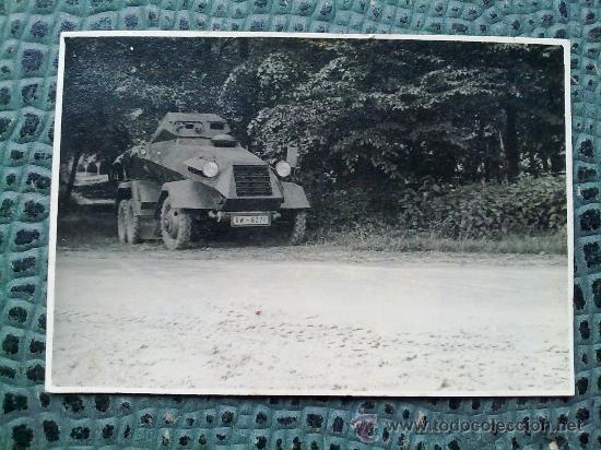 Militaria: FOTO ORIGINAL ALEMANA ,PEQUEÑO BLINDADO ALEMAN ,II GUERRA MUNDIAL - Foto 2 - 27040009