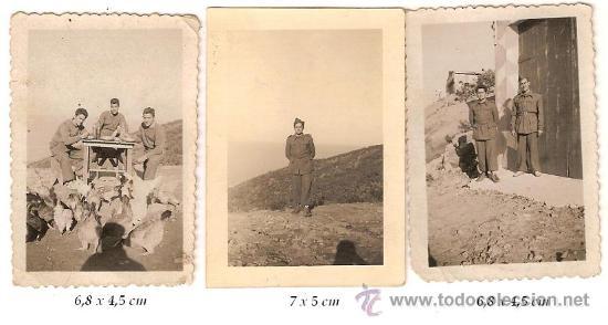 Militaria: 2211 -- LOTE DE 4 FOTOS DE MILITARES (FOTO ARBONA ,CALATAYUD Y CASA ROS) - Foto 2 - 27544933