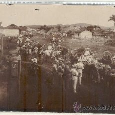 Militaria: (FM-735)FOTOGRAFIA ALBUMINA COMPAÑIA DE CAZADORES DE CATALUÑA(CUBA)SIGLO XIX(20X12 CM.). Lote 19135575