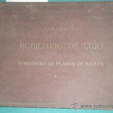 Militaria: CATALOGO DE GRAN FORMATO DE PROYECTOS DE MOBILIARIO DE LUJO, SUMINISTRO DE PLANOS DE TALLER.... Lote 19288475