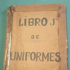 Militaria: CATALOGO DE GRAN FORMATO, LIBRO DE APUNTES DE JUAN PRAT, 38 X 28 CM APROX., 1894, CON DIBUJOS Y... . Lote 25041603