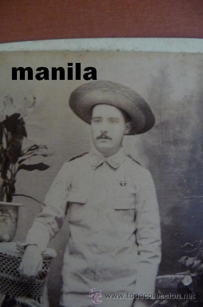 Militaria: (JX-56)FOTOGRAFIA ALBUMINA OFICIAL EN LAS CAMPAÑAS DE FILIPINAS SIGLO XIX (10X6 CM.) - Foto 2 - 19902512