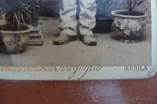 Militaria: (JX-56)FOTOGRAFIA ALBUMINA OFICIAL EN LAS CAMPAÑAS DE FILIPINAS SIGLO XIX (10X6 CM.) - Foto 4 - 19902512