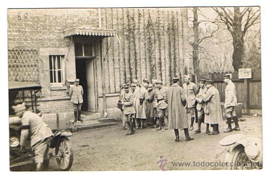 I GUERRA MUNDIAL, MILITARES FRANCESES EN CUARTEL DE CAMPAÑA, ORIGINAL DE ÉPOCA 1914-19, VER FOTOS (Militar - Fotografía Militar - I Guerra Mundial)