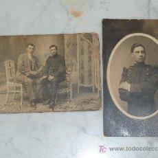 Militaria: 2 FOTOGRAFIAS POSTALES DE SOLDADO ALFONSINO. REGIMIENTO 55.. Lote 24888738