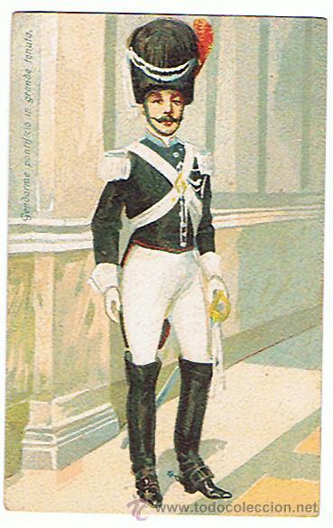 POSTAL DE ÉPOCA, AÑO 1910 - 1920, GUARDIA PONTIFICIA, VER FOTOS. (Militar - Fotografía Militar - Otros)
