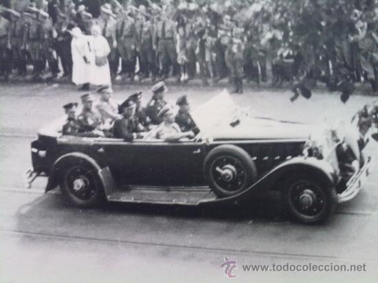 FOTO ORIGINAL ALEMANA ,JOSEPH GOEBBELS EN COCHE OFICIAL ,IIWW (Militar - Fotografía Militar - II Guerra Mundial)