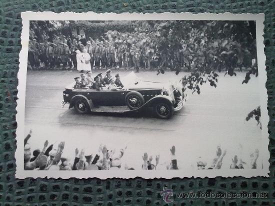 Militaria: FOTO ORIGINAL ALEMANA ,Joseph Goebbels EN COCHE OFICIAL ,IIWW - Foto 2 - 27272007