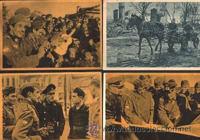 LOTE 10 POSTALES LA DIVISION AZUL .. ORIGUINALES (Militar - Fotografía Militar - II Guerra Mundial)