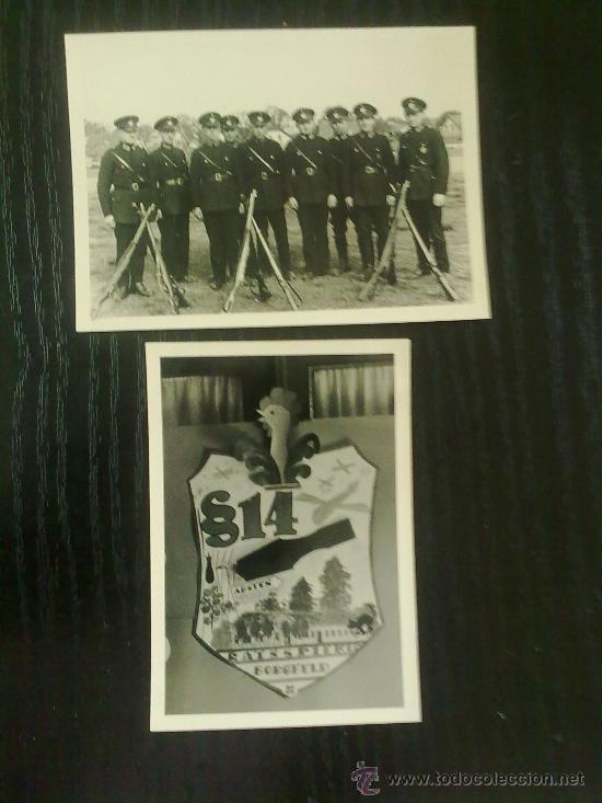 2 FOTOS ORIGINALES ALEMANAS ,POLICIA Y ESCUDO ,IIWW (Militar - Fotografía Militar - II Guerra Mundial)