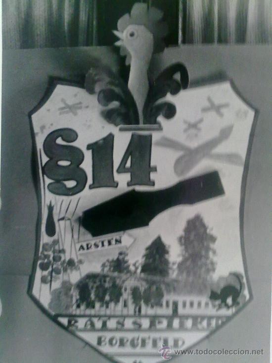 Militaria: 2 FOTOS ORIGINALES ALEMANAS ,POLICIA Y ESCUDO ,IIWW - Foto 3 - 21798887