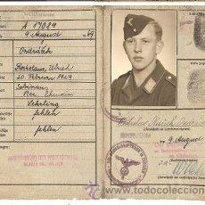Militaria: KENNKARTE, DOCUMENTO NACIONAL DE IDENTIDAD ALEMAN ORIGINAL. Lote 21997166