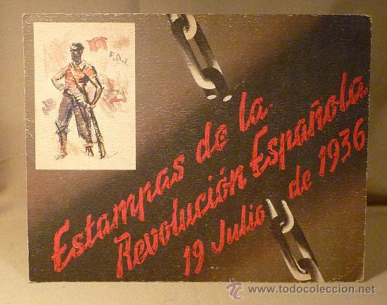 Militaria: CARTEL, ANUNCIO, ESTAMPAS DE LA REVOLUCION ESPAÑOLA DE 1936, CARTON, 27 X 65 CM - Foto 2 - 28400659